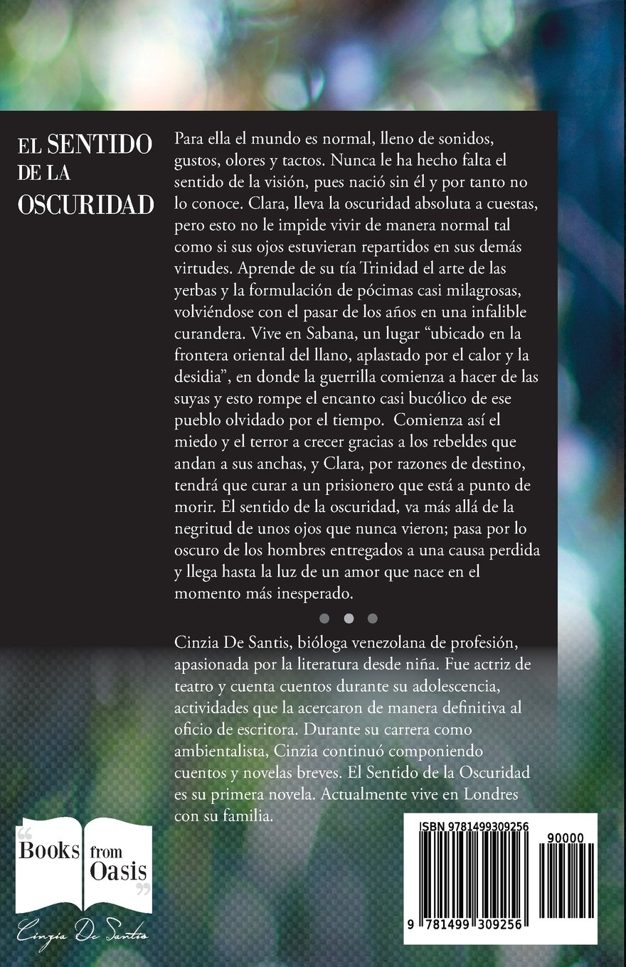 El sentido de la oscuridad (Spanish Edition): Cinzia De Santis: 9781499309256: Amazon.com: Books