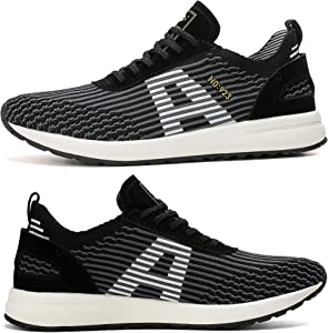 42 EU, A9099-Negro AX BOXING Zapatillas Hombres Deporte Running Sneakers Zapatos para Correr Gimnasio Deportivas Padel Transpirables Casual