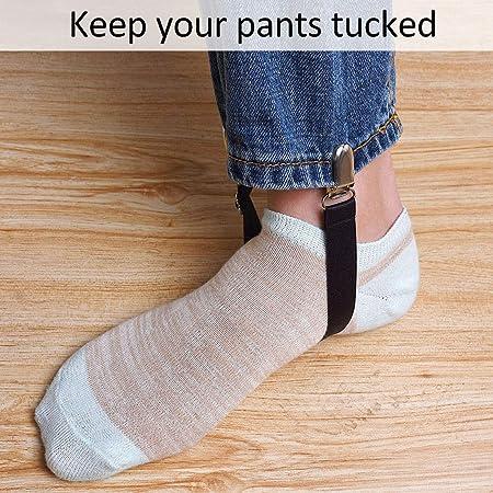 Tiunyeah - 4 Pinzas elásticas para Las piernas para Mantener los Pantalones Rectos en Las Botas, Color Negro: Amazon.es: Productos para mascotas
