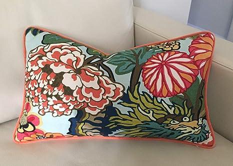 "17/"" Colorful Zigzag Deer Head Cotton Linen Cushion Cover Throw Pillow Decor B596"
