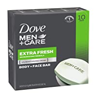 Deals on 10-Count Dove Men+Care Body and Face Bar Extra Fresh 4oz
