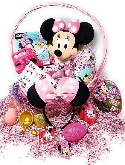 Amazon.com: Happy Easter Minnie Mouse Cesta para niñas y ...