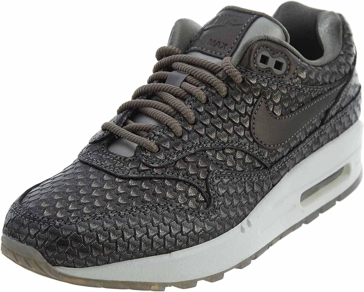 Nike Air Max 1 Premium Women s Running Shoes Metallic Pewter Metallic Pewter 454746-015