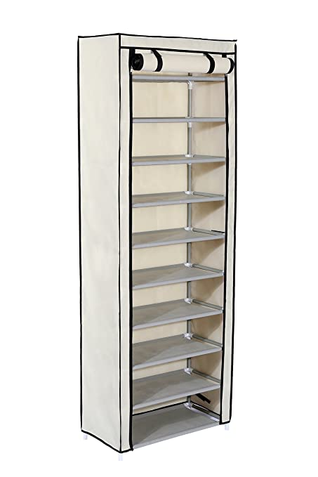 Home Like 10 Tiers Shoe Cabinet Shoe Storage Organizer Shoe Tower