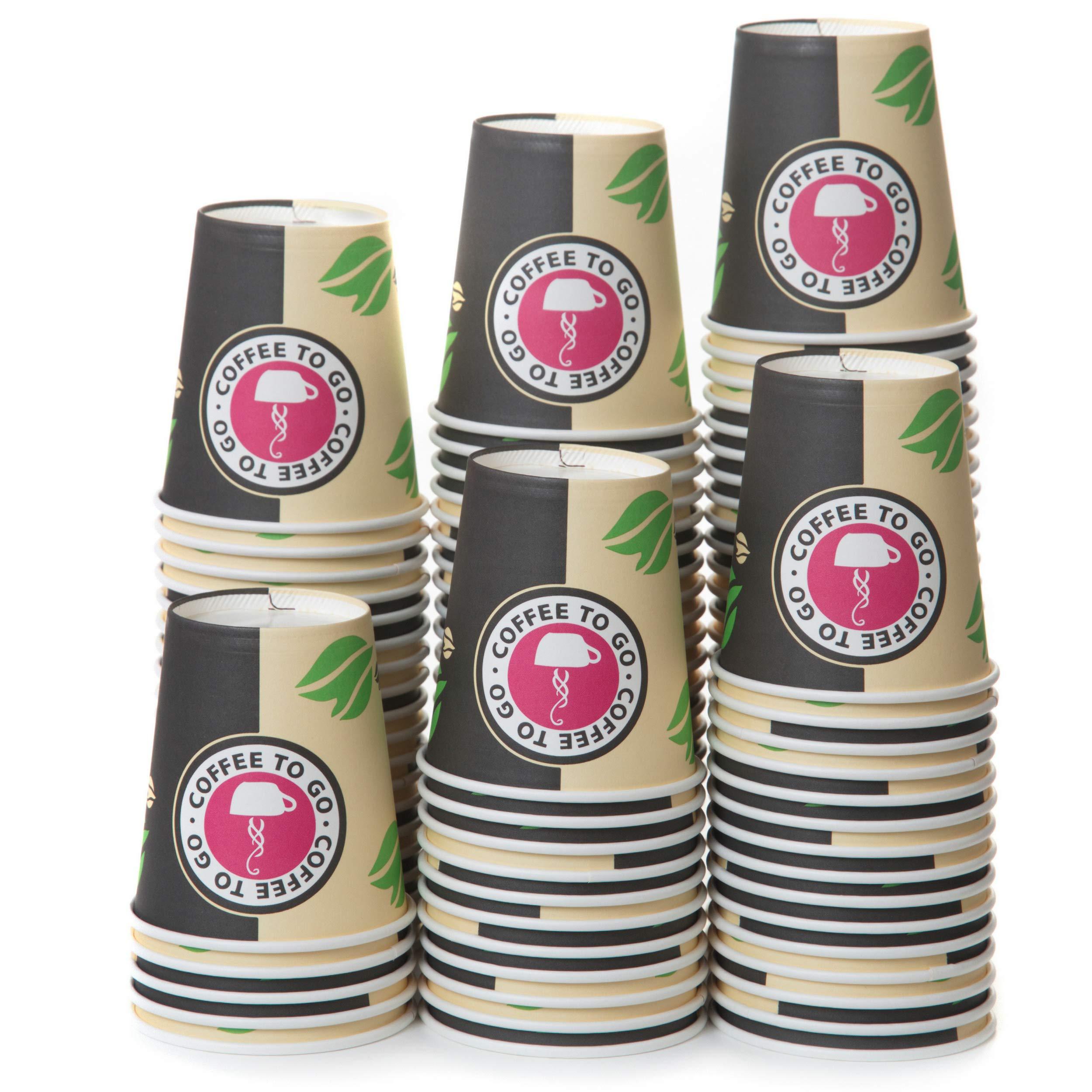 100 Vasos Desechables de Café Para Llevar - Vasos Carton 240 ml para Servir el Café