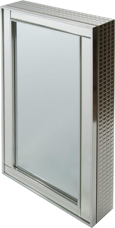 elbmöbel - Armario con Espejo para baño (40 x 80 x 40 x 9 cm ...