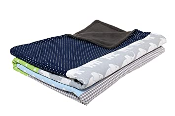 Navy Anchor Blanket Cotton Minky backing 19 colors Carseat Blanket Crib Blanket Minky Blanket