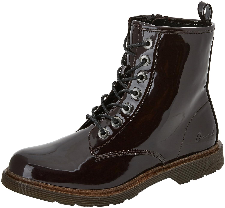 new concept 96fde ca308 COOLWAY Women's Budapest Combat Boots, Black (Bur), 3 UK ...