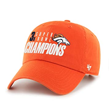 1b3f0ed1 Amazon.com : '47 NFL Denver Broncos 3-Time Champs 2015 Super Bowl 50 ...