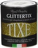 TIXE Glittertix Glitter per Pittura, Vernice, Argento, 250 ml
