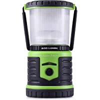 Blazin' Bison Battery LED Rechargeable Lantern | 500 Hour Runtime | Power Bank | Storm Light (600 Lumen, Green)
