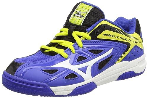 Mizuno Jr Wave Stealth 3 - Zapatillas de Balonmano de Material sintético niños, Color Azul, Talla 34: Amazon.es: Zapatos y complementos