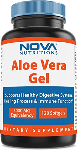 Nova Nutritions Aloe Vera Gel 5000 mg 120 Softgels