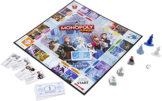 Monopoly Junior Game Frozen Edition: Amazon.es: Juguetes y juegos