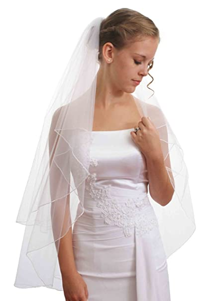 a2e50cbe6 Image Unavailable. Image not available for. Color: Bridal Veil is a two  layer ...