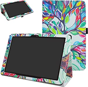 AT&T Primetime Case,ZTE K92 Case,Mama Mouth PU Leather Folio 2-Folding Stand Cover with Stylus Holder for 10