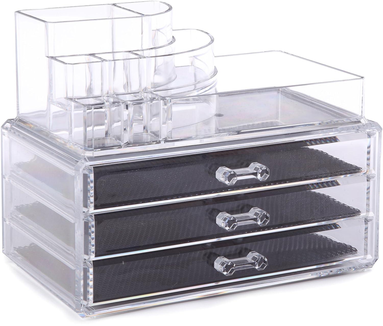 Ordinare&Co Cosmetic Organizer 3 Cassetti + Porta Trucchi: Amazon ...
