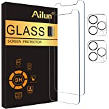 Ailun 2 Pack Screen Protector Compatible for iPhone 12 Pro Max[6.7 inch] + 2 Pack Camera Lens Protector,Case Friendly Tempere