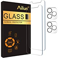 Ailun 2 Pack Screen Protector Compatible for iPhone 12 Pro Max[6.7 inch] + 2 Pack Camera Lens Protector,Case Friendly…