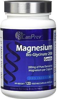 CanPrev Magnesium Bis-Glycinate 200 Capsules, Gentle, 120 Count