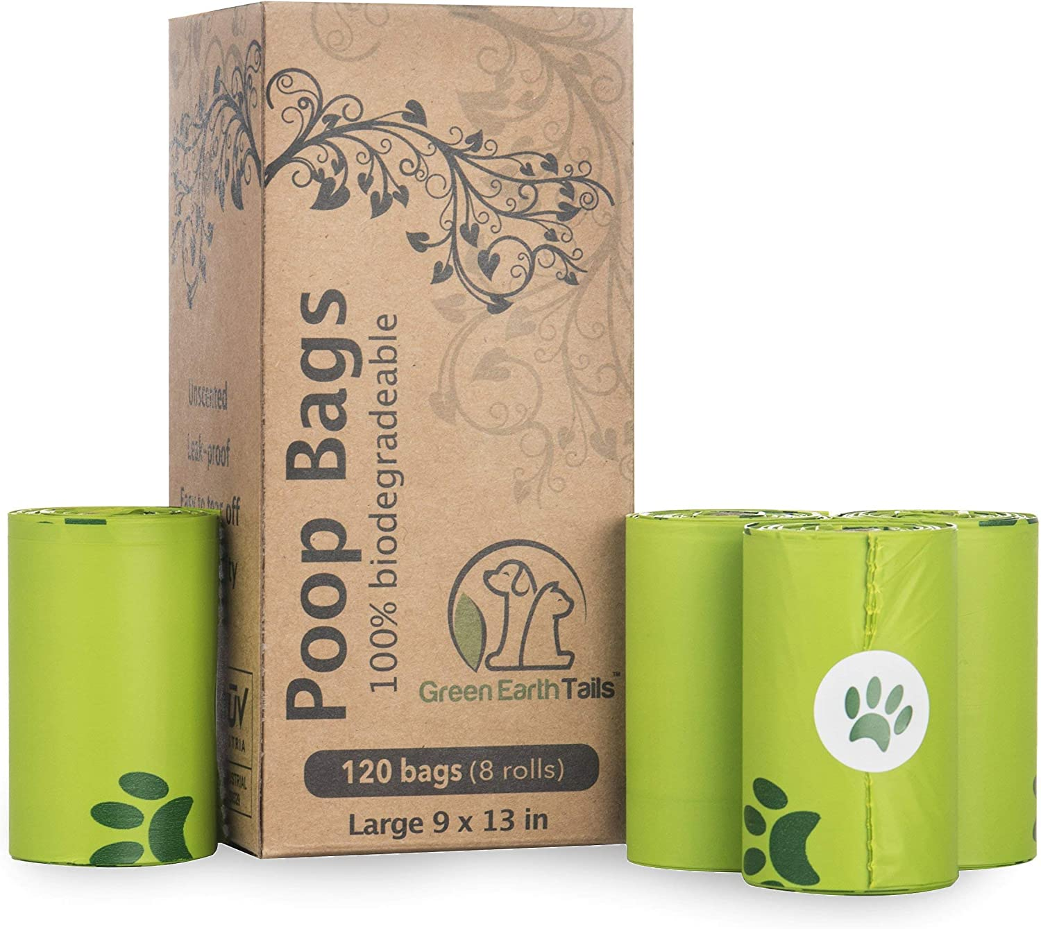 Green Earth Tails Bolsas biodegradables compostables para Perros ...