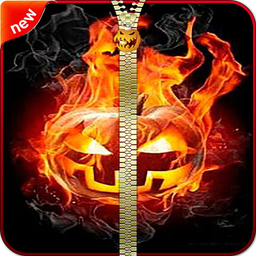 Halloween Zipper Lock Screen - New Locker -