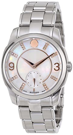 a1813fc0e6a Image Unavailable. Image not available for. Color  Movado Women s 0606619  Movado Lx White Mother-Of-Pearl ...