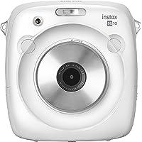 Fujifilm Instax Square SQ10 Fotocamera Ibrida Istantanea e Digitale con Scheda di Memoria, per Foto Formato Quadrato 62x62 mm, Bianca