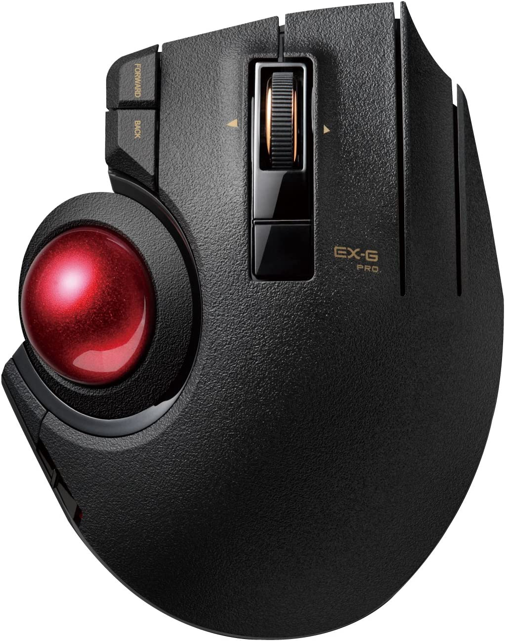 ELECOM Wired/Wireless/Bluetooth Thumb-Operated Trackball Mouse, 8-Button Function with Smooth Tracking, Precision Optical Gaming Sensor (M-XPT1MRXBK)