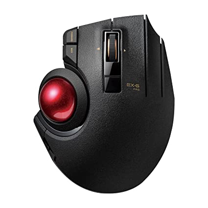 7288aa13657 ELECOM M-XPT1MRXBK Trackball Mouse, Wired, Wireless, and Bluetooth, Gaming,