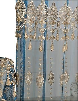 Aside Bside - Cortina Permeable para decoración de Ventanas, diseño de caña de Pescar con Bolsillo, para habitación de niños, Dormitorio, Sala de Estudio (1 Panel, 52 x 84 cm, Color Blanco): Amazon.es: Jardín