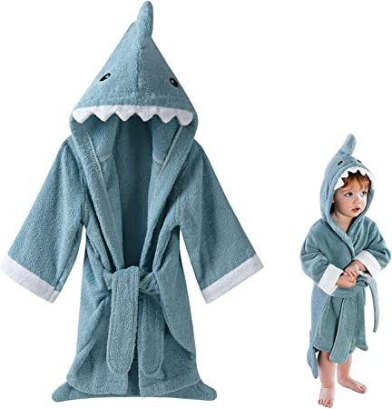 18-24 Months 1-2 Years Grey Soft Dressing Gown Robe Twins Unisex Soft