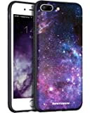 iPhone 8 Plus Case,iPhone 7 Plus Case,BENTOBEN Nebula Galaxy Stars Slim Fit Dual Layer Hybrid Shockproof Hard Back Durable Bumper Protective Case Cover for iPhone 8 Plus/iPhone 7 Plus(5.5 inch), Black