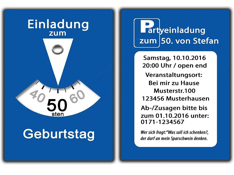 Parkscheibe Als Einladungskarten Geburtstag Einladungen Witzig Lustig  Geburtstagseinladungen   70 Stück: Amazon.de: Bürobedarf U0026 Schreibwaren