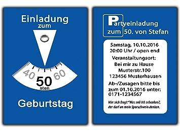 Parkscheibe Als Einladungskarten Geburtstag Einladungen Witzig