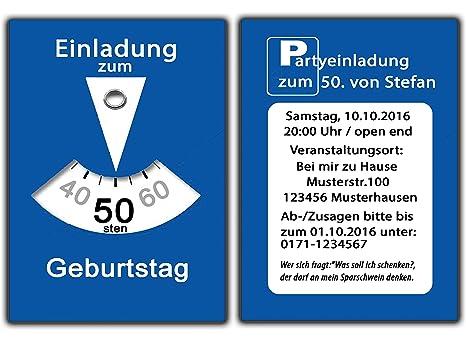 Parkscheibe Als Einladungskarten Geburtstag Einladungen Witzig Lustig Mann  Frau   20 Stück: Amazon.de: Bürobedarf U0026 Schreibwaren