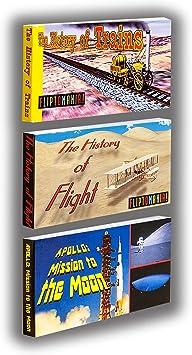 Fliptomania Aviones, Trenes y Cohetes Flipbooks 3-Pack: Amazon.es: Juguetes y juegos