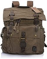 """DRF Canvas Rucksack Men Backpack Purse Vintage for Travel 17"""" Laptop BG-09"""
