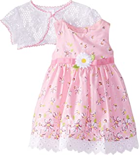 c5c563d4d Amazon.com  Youngland Baby Girls  Mixed Print and Eyelet Dress with ...