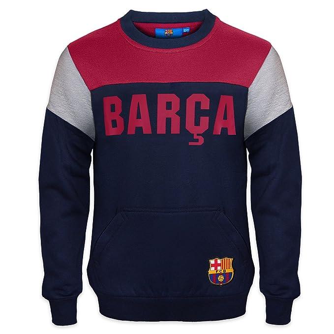 FC Barcelona - Sudadera oficial para niño - Con el escudo del club - 8-9 años: Amazon.es: Ropa y accesorios