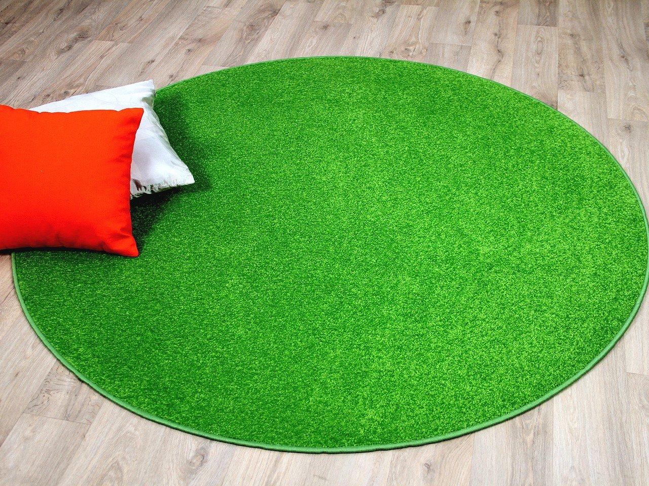 Trend Velour Teppich Joy Grasgrün in 7 Größen