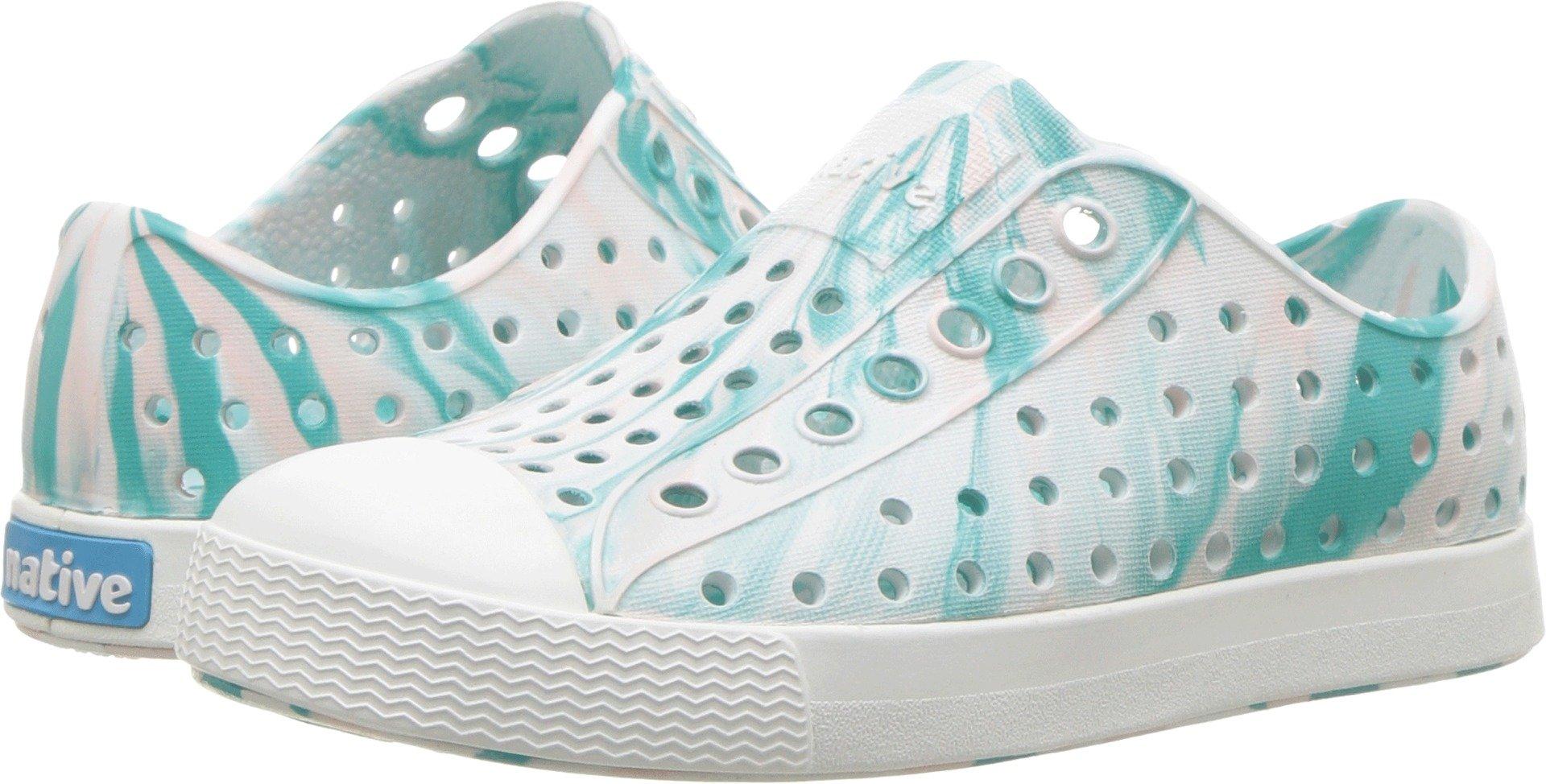 native Kids Baby Jefferson Child Sneaker, Glass Green/Shell White Marbled, 10 Medium US Toddler