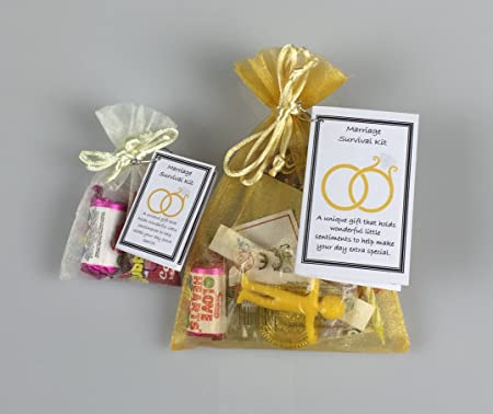 Uniquelikeu Marriage Survival Kit Novelty Fun Wedding Keepsake