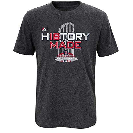uk availability d943a 5e01d Majestic Boston Red Sox 2018 World Series Champions Youth T-Shirt