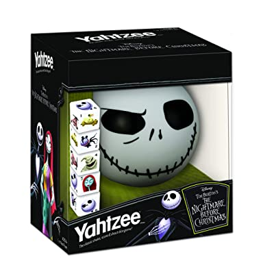 Disney Yahtzee The Nightmare Before Christmas Dice Game | Collectible Jack Skellington Toy | Family Dice Game & Travel Games: Toys & Games
