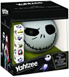 Disney Yahtzee The Nightmare Before Christmas Dice Game | Collectible Jack Skellington Toy | Family Dice Game & Travel…
