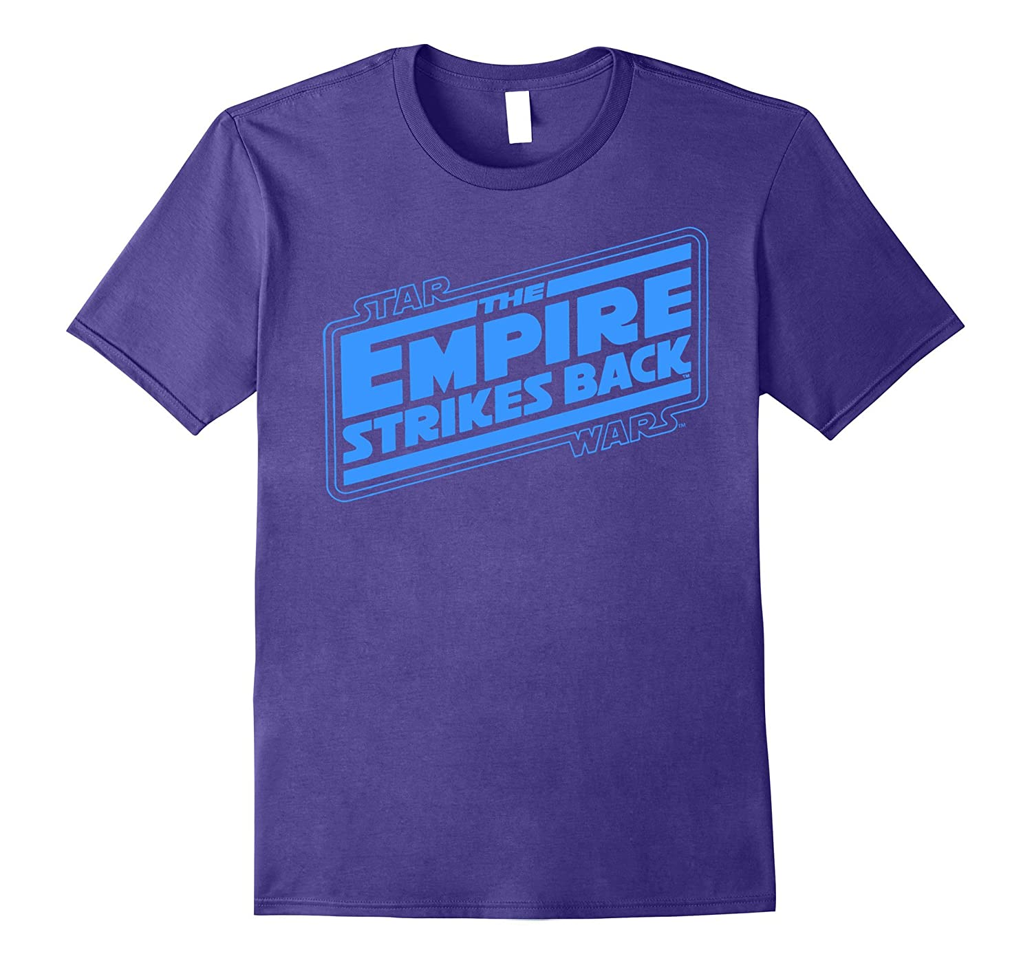 Star wars empire strikes back logo graphic t shirt pl for Shirts with graphics on the back