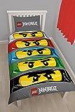 Character World Lego Ninjago Ojos solo Panel Juego de funda nórdica