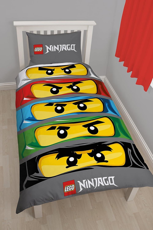 Character World Lego Ninjago Eyes Single Panel Duvet LG6NNEDS001UK1