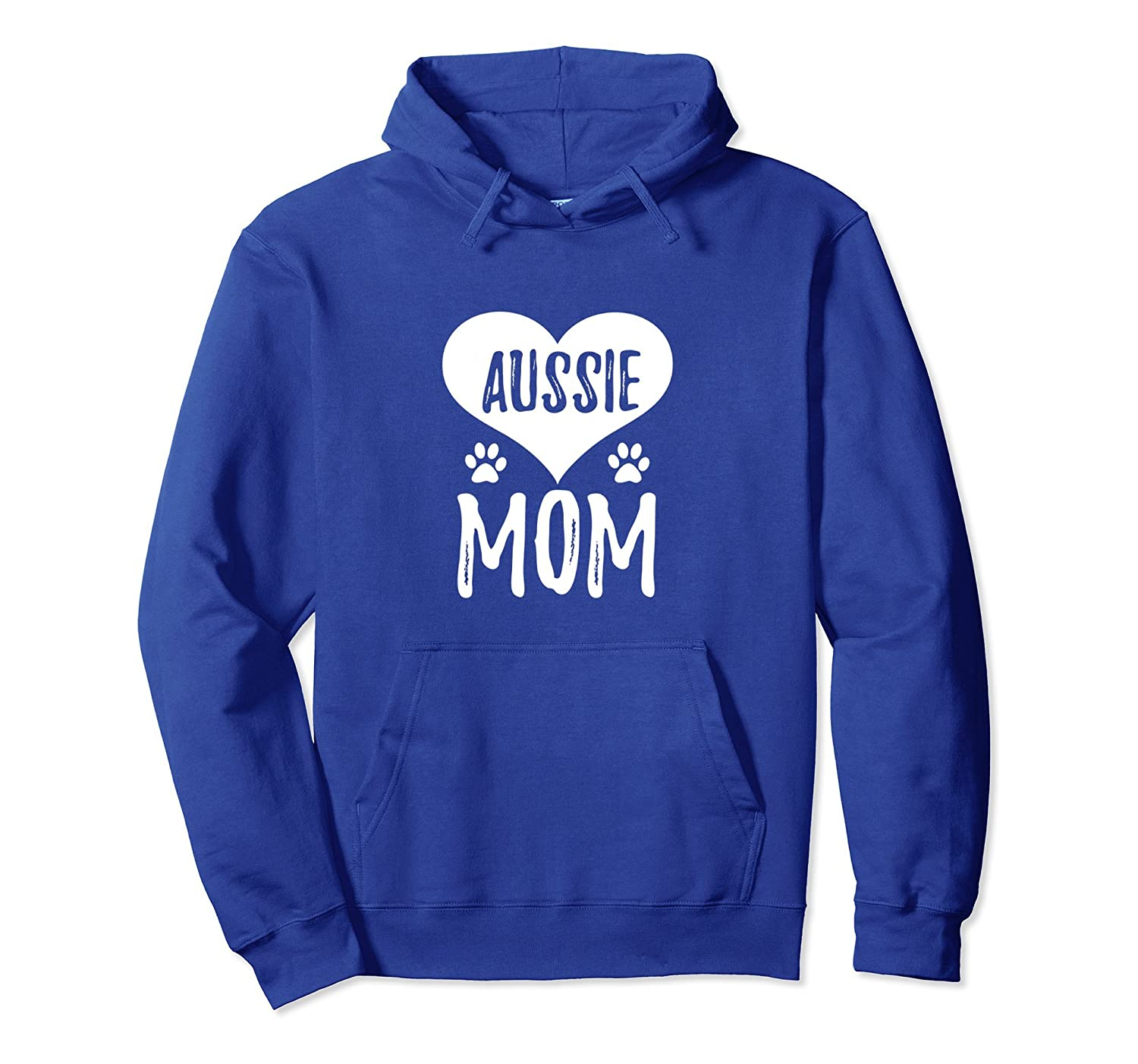 Aussie Mom Hoodie for Aussie Shepherd Dog Mom-AZP